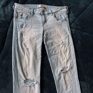 Hollister Light Blue Ripped Jeans